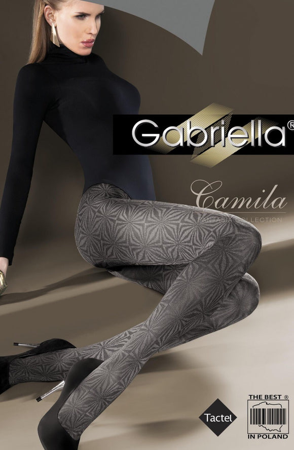 Gabriella 'Camila' smoky grey Lycra tights - Roseandjoy