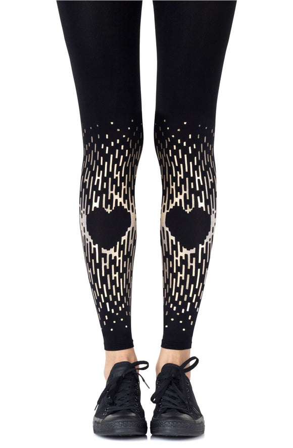 Zoe 'spread the love' footless tights - Roseandjoy