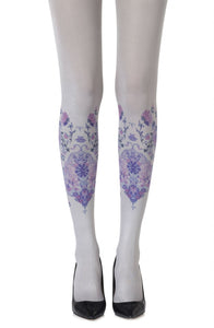'Alice in wonderland' light grey tights - Roseandjoy