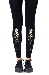 Zohara Pina colada black footless tights