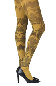 'Don't leave me' mustard tights - Roseandjoy