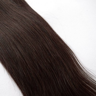16-24 Inch Straight Nail Tip Remy Hair Extensions #4 Chocolate Brown - Roseandjoy