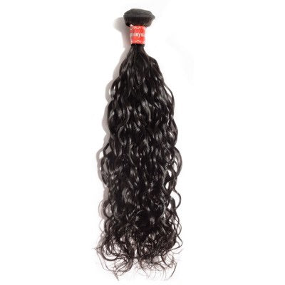 10-30 Inch Natural Wavy Virgin Malaysian Hair #1B Natural Black - Roseandjoy