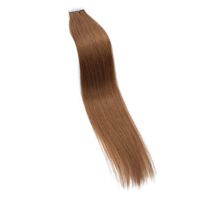 16-24 Inch Straight Tape In Remy Hair Extensions #8 Light Brown - Roseandjoy