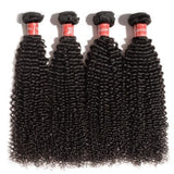 10-30 Inches Kinky Curly Virgin Malaysian Hair colour 1B, Natural Black - Roseandjoy
