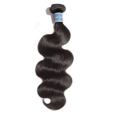 10 - 30 Inches Body Wave Virgin Peruvian Hair #1B Natural Black - Roseandjoy