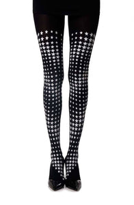 Diamonds in the sky printed tights - Roseandjoy