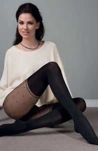 Sofia luxury black tights