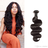 10-30 Inches Body Wave Virgin Indian Hair colour 1B, Natural Black - Roseandjoy