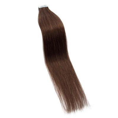 Straight Tape In Remy Hair Extensions #4 Chocolate Brown - Roseandjoy