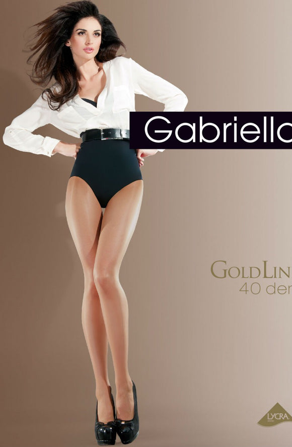 Gabrielle classic gold 40 denier beige tights - Roseandjoy