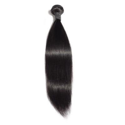 10-30 Inch Straight Virgin Indian Hair #1B Natural Black - Roseandjoy