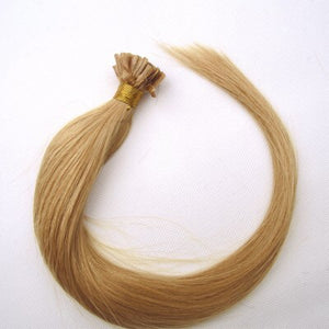 16-24 Inch Straight Nail Tip Remy Hair Extensions #27 Strawberry Blonde - Roseandjoy
