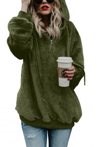 Green Warm Fleece Pullover Hoodie - Roseandjoy