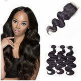 10-30 Inch Body Wavy Virgin Malaysian Hair colour 1B - Roseandjoy