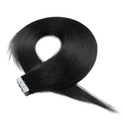 16-24 Inch Straight Tape In Remy Hair Extensions #1 Jet Black - Roseandjoy