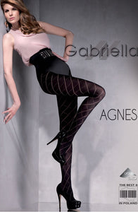 Gabrielle 'Agnes' cross-cross Lycra tights - Roseandjoy