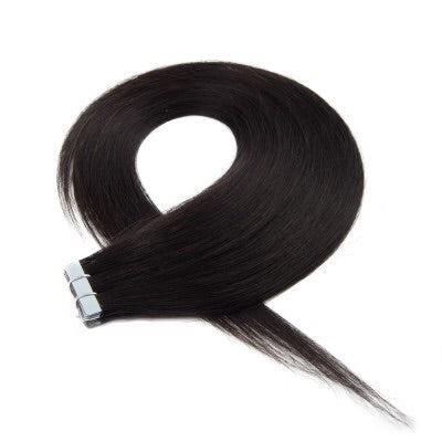16-24 Inch Straight Tape In Remy Hair Extensions #1B Natural Black - Roseandjoy