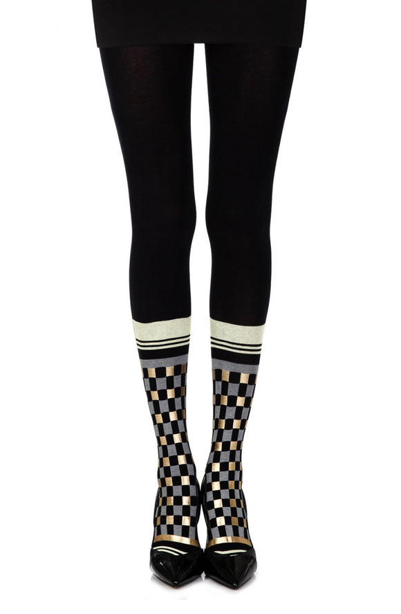 Tilled print black socks - Roseandjoy