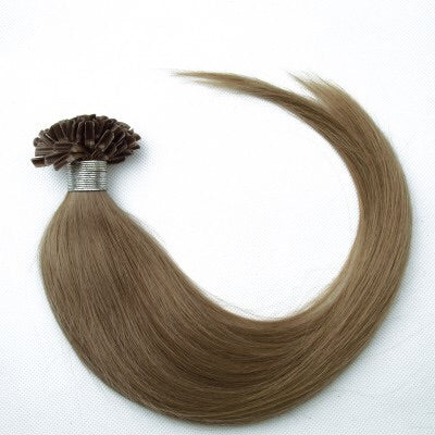 16-24 Inch Straight Nail Tip Remy Hair Extensions #18 Ash Blonde - Roseandjoy
