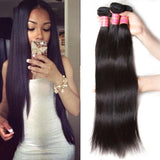 10-30 Inch Straight Virgin Malaysian Hair #1B Natural Black - Roseandjoy