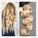 Body Wavy Colored Remy Hair #27/613 - Roseandjoy