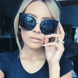 Women's Oversized Cat Eye Sun Glasses