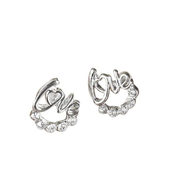 Crystal Rhinestone Ear Stud Earrings - Roseandjoy