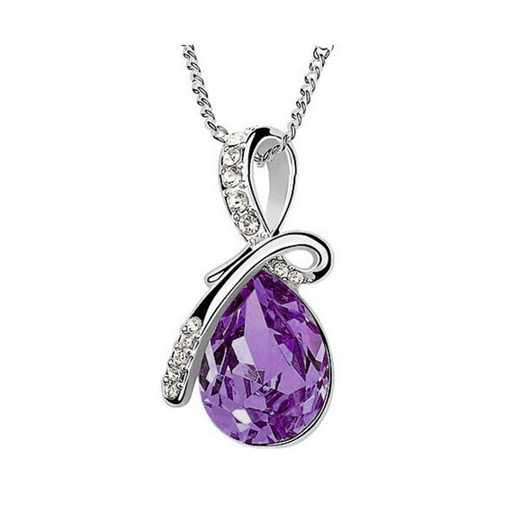 Women's Rhinestone Crystal Necklace Pendant - Roseandjoy