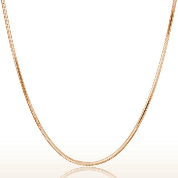 Rose Gold Round Snake Chain Necklace - Roseandjoy