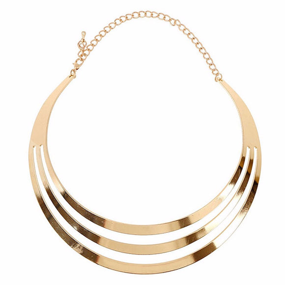 Geometry Chain Collar Necklace - Roseandjoy