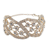 Women's Crystal Rhinestone Necklace Choker - Roseandjoy