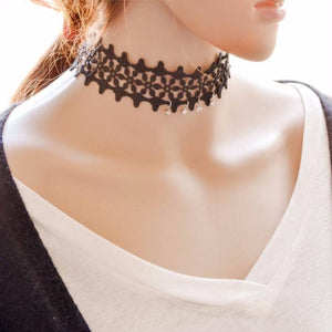 Women Lace Necklace Collar Choker - Roseandjoy