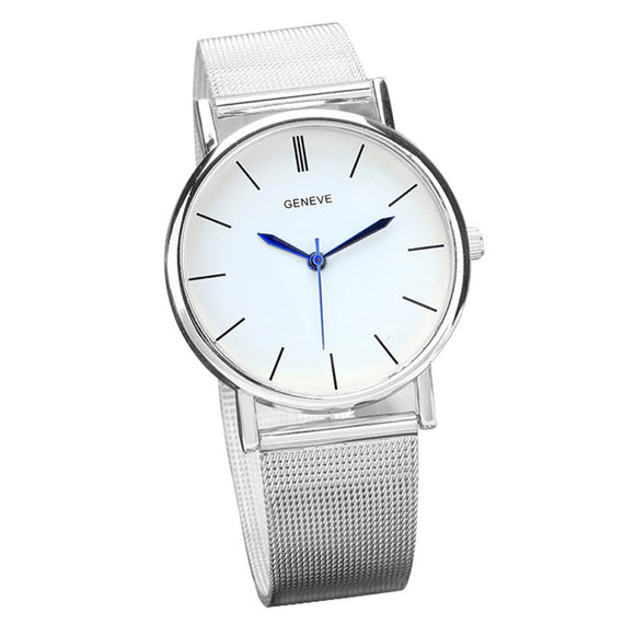 Geneve Women's Fashion Watch Stainless Steel Band Quartz Wrist Watches - Roseandjoy