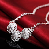 Silver Necklace and earrings set - Roseandjoy