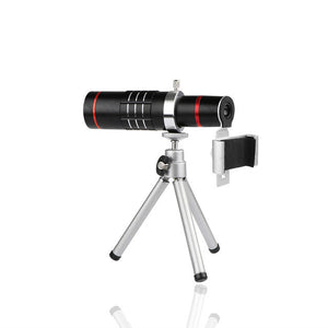 18X Zoom Telescope Mobile Phone Camera Lens with Tripod Clip For iPhone 7 8 X Samsung Xiaomi HTC Mobile Phones - Roseandjoy