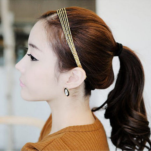 Women Tassels Head Chain Jewelry Headband Party Headpiece Hair Band