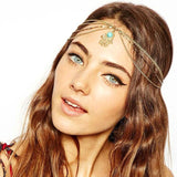 Fashion Metal Head Chain Jewelry Chain Headband Piece - Roseandjoy