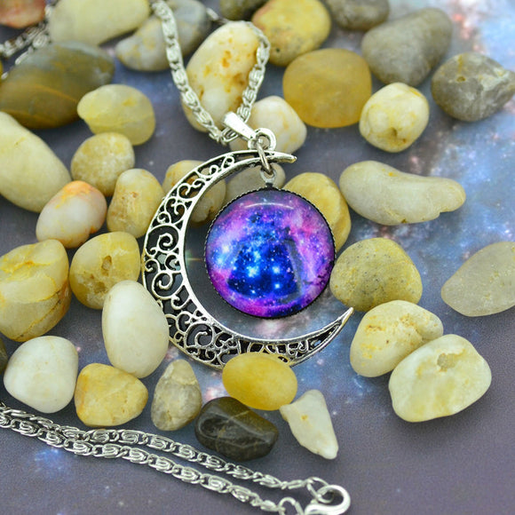 Vintage Moon Time Necklace