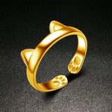 CAT EARS and Paws RING, Adjustable - Roseandjoy