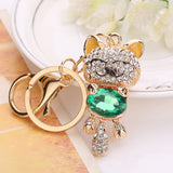 Rhinestone Alloy Cat Sparkling Charm Key holder, Key chain, Handbag Pendant - Roseandjoy