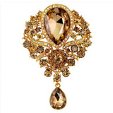 Hot New Large Fashion Rhinestone Brooch - Roseandjoy