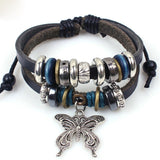 Vintage Butterfly Multi Beaded Bracelet - Roseandjoy