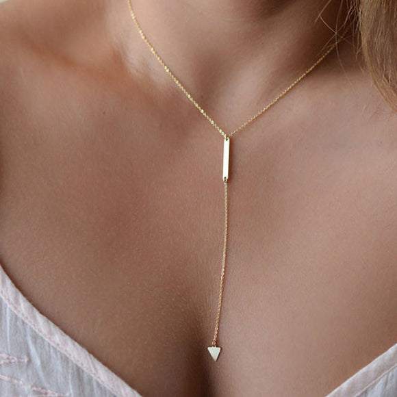 Bohemian Little Triangle Alloy Necklace - Roseandjoy