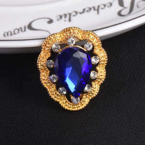 Large Water Drop Crystal Brooch Wedding Pins And Brooches Fashion Scarves Buckle - Roseandjoy