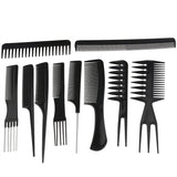 10 pieces of Professional Hair Styling Combs - Roseandjoy