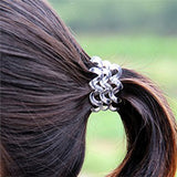 10 Pieces Fashion Clear Elastic Ponytail Holders, Twists Spiral Hair Ties, Traceless Hair Coil Set - Roseandjoy