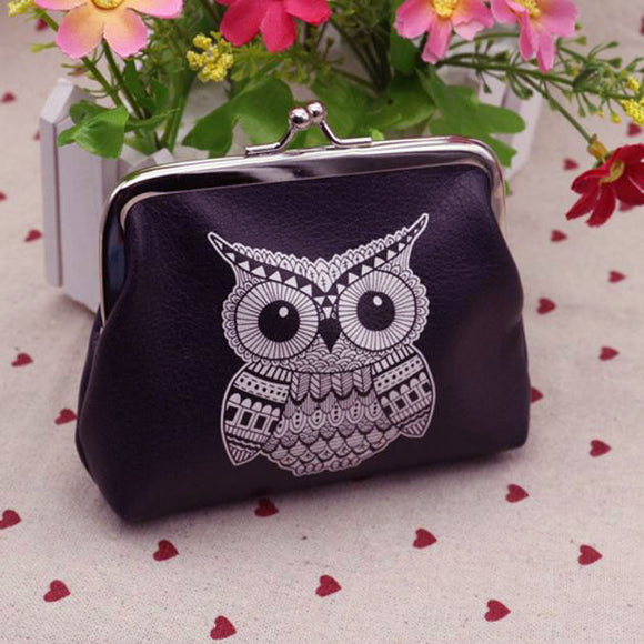 Womens Owl Wallet Card Holder Coin Purse
