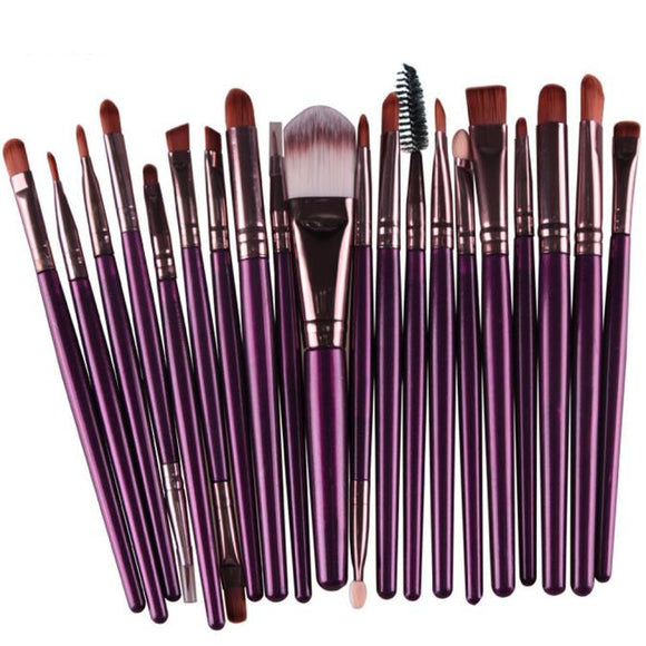 20 PIECES Makeup Brush Set - Roseandjoy