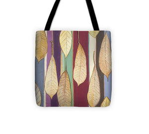 Leaves And Stripes I Tote Bag - Roseandjoy